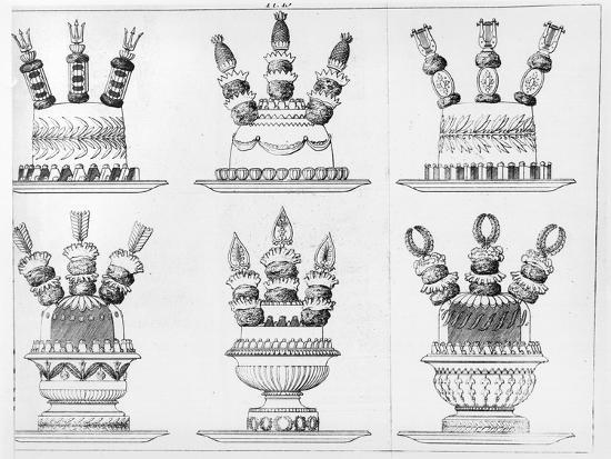 """Designs for Food Decoration from """"Le Cuisinier Parisien"""", Published 1842-Marie Antoine Careme-Giclee Print"""