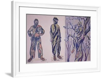 Designs for Sniper and Reconnaissance Suits Incorporating Disruptive Patterning--Framed Giclee Print