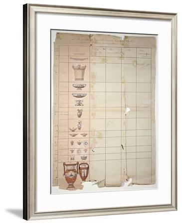 Designs For the Rambouillet Dairy Service, Sevres Workshop--Framed Giclee Print