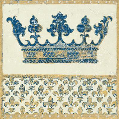 Regal Crown Indigo and Cream by Designs Meloushka