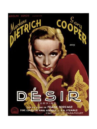 Desire, Marlene Dietrich, 1936--Giclee Print