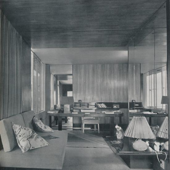 'Desk in bedroom-sitting room', 1942-Unknown-Photographic Print