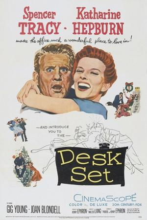 Desk Set, Spencer Tracy, Katharine Hepburn, 1957