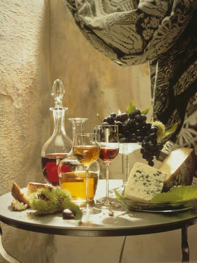 Dessert Wines for a Selection of Cheeses--Photographic Print