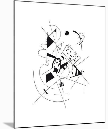 Dessin, 1918-Wassily Kandinsky-Mounted Premium Giclee Print