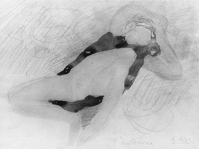 Dessin-Auguste Rodin-Giclee Print