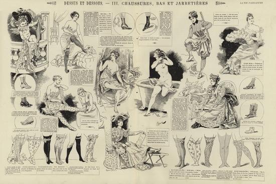 Dessus Et Dessous, Chaussures, Bas Et Jarretieres--Giclee Print