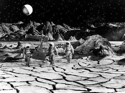 Destination Moon, Astronauts Explore The Lunar Terrain, 1950--Photo