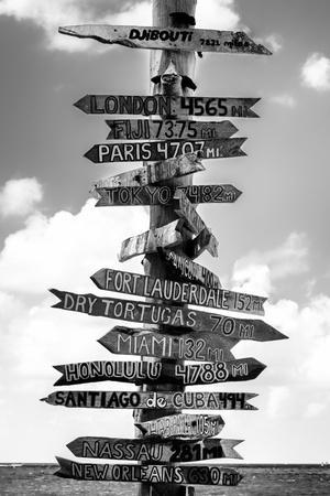 Destination Signs - Key West - Florida-Philippe Hugonnard-Photographic Print