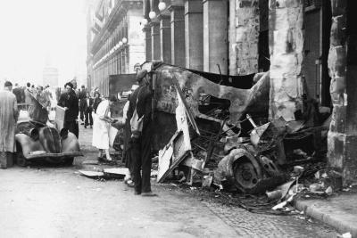 Destoyed Vehicle, Rue De Castiglione, Liberation of Paris, August 1944--Giclee Print