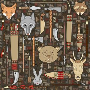 Pattern of Indian Hunting Tools by destra