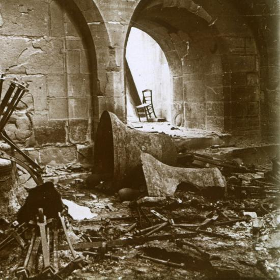 Destroyed church, Marne, northern France, c1914-Unknown-Photographic Print