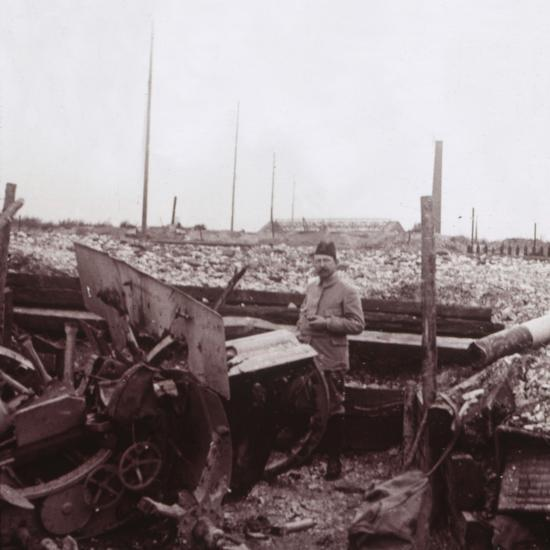 Destruction, Carency, northern France, c1914-c1918-Unknown-Photographic Print