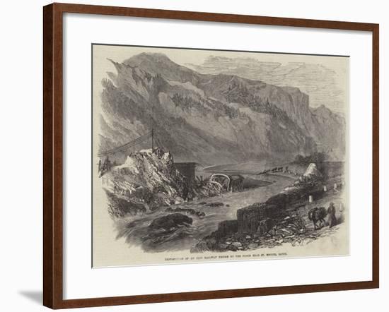 Destruction of an Iron Railway Bridge by the Flood Near St Michel, Savoy--Framed Giclee Print