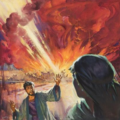 Destruction of Sodom and Gomorah-McConnell-Giclee Print