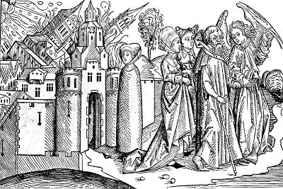Destruction of Sodom and Gomorrah by Earthquake, 1493--Giclee Print