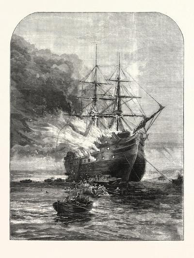 Destruction of the Goliath Training Ship, Off Grays, Essex, by Fire, 1876, Uk--Giclee Print