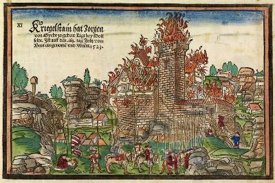 Destruction of the Krögelstein Castle by the Swabian League-Hans Wandereisen-Giclee Print
