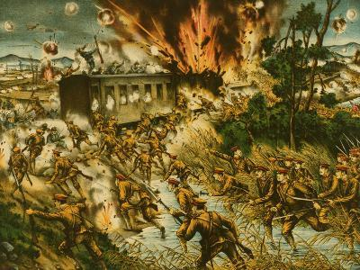 Destruction of the Red Army Railroad--Art Print