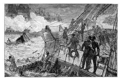 Destruction of the Turkish Fleet at Sinope, 1853--Giclee Print
