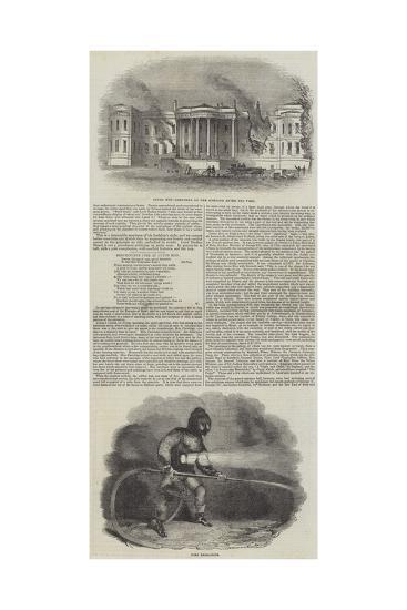 Destructive Fire at Luton Hoo--Giclee Print