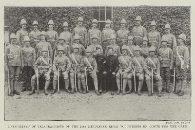 Detachment of Telegraphists of the 24th Middlesex Rifle Volunteers En Route for the Cape--Giclee Print