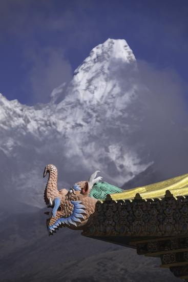 Detail at the Buddhist Monastery in Tengboche in the Khumbu Region of Nepal-John Woodworth-Photographic Print