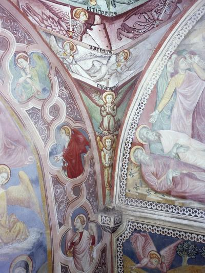 Detail from 15th Century Frescoes in Chapel of Angels in Monastery of St Scholastica, Subiaco--Giclee Print