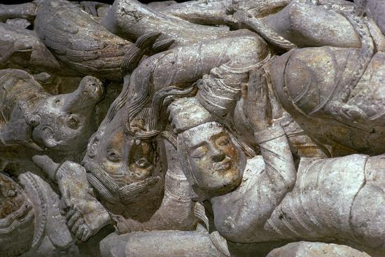 Detail from a carving on Souillac Abbey, 12th century-Unknown-Giclee Print