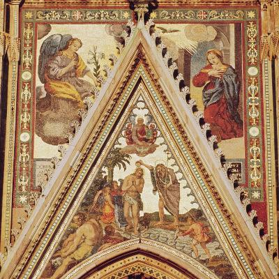 Detail from a Portico on the Facade of Orvieto Cathedral, Depicting the Baptism of Christ--Giclee Print
