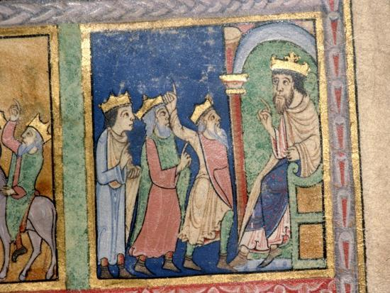 Detail from a Psalter the Magi and Herod, c1140-Unknown-Giclee Print