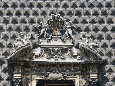 Detail from Baroque Entrance, Church of Gesu Nuovo, 16th Century, Naples, Campania, Italy--Giclee Print