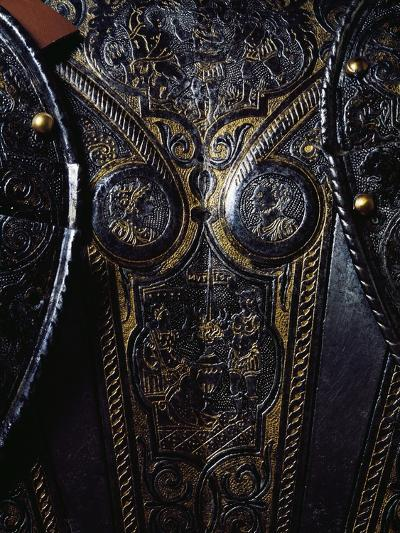 Detail from Breast Plate of Engraved and Gilded Armor, Work by Armourer Pompeo Della Cesa--Giclee Print
