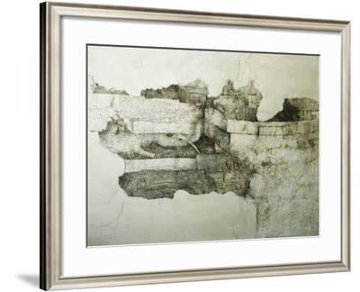 Detail from Ceiling of Room of Wooden Boards, Decorated by Leonardo Da Vinci--Framed Giclee Print