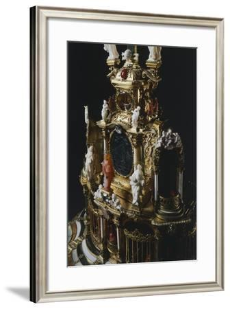 Detail from Central Part of Silver-Gilt Altarpiece with White and Green Jade Crucifix--Framed Giclee Print