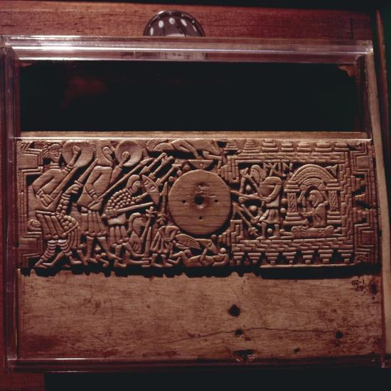 Detail from Franks Casket', whalebone Northumbrian work, c700-Unknown-Giclee Print