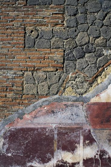 Detail from Fresco and Wall Below, Villa San Marco, Stabiae, Campania, Italy--Giclee Print