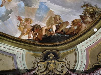 Detail from Fresco in Hall in Castle of Rivoli--Giclee Print
