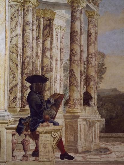 Detail from Fresco-Leone Ghezzi-Giclee Print