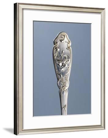 Detail from Handle of Dusting Spoon with Embossed Liberty-Style Flowers, Minerva Hallmark, Vermeil--Framed Giclee Print