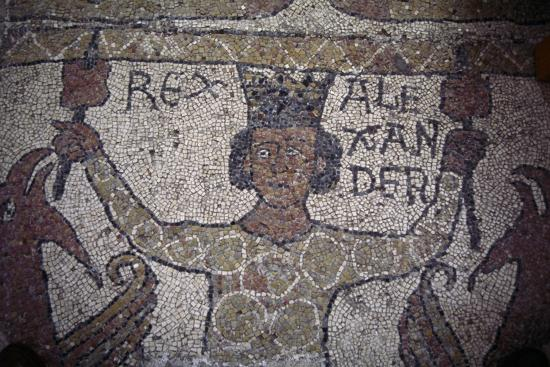 Detail from Mosaic Floor, Cathedral of San Nicola Pellegrino--Giclee Print
