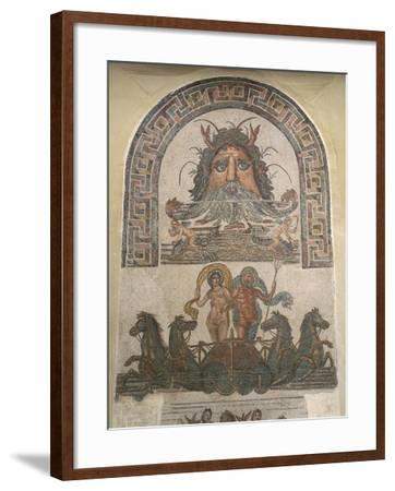 Detail from Mosaic with God Oceanus and Triumph of Neptune and Amphitrite, from Utica, Tunisia--Framed Giclee Print