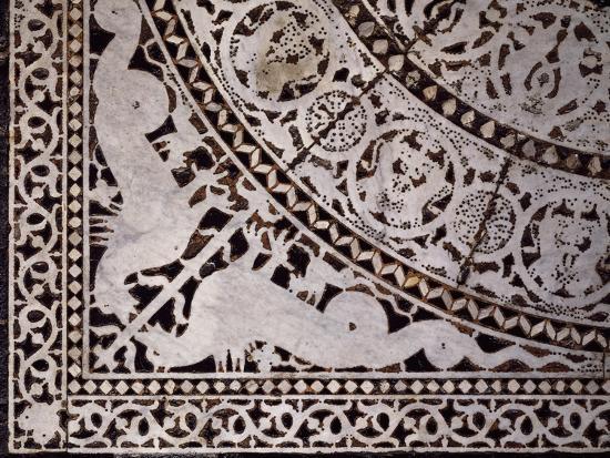 Detail from Original Marble Floor, Baptistery of San Giovanni Battista--Giclee Print