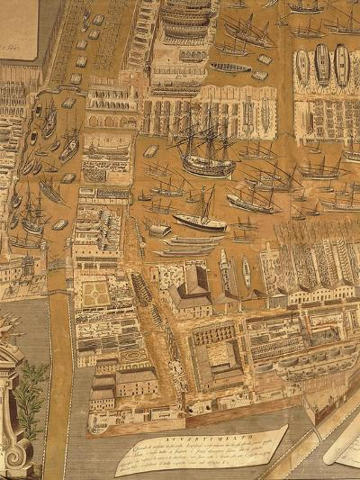Detail from Perspective Map of Venice Dockyard, 1798-Gian Maria Maffioletti-Giclee Print