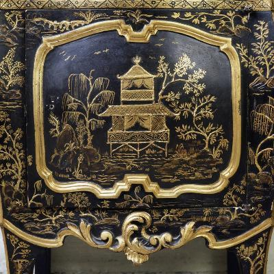 Detail from Piece of Lacquered Furniture with Chinese Motifs--Giclee Print