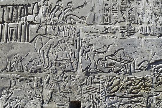 Detail from Relief of Battle of Kadesh--Photographic Print