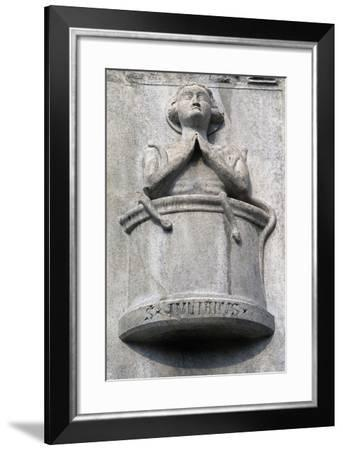 Detail from Sculptural Decoration on Facade of Como Cathedral--Framed Giclee Print