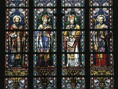 Detail from Stained Glass Windows, St John's Cathedral--Giclee Print