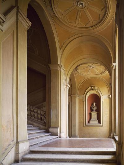 Detail from Staircase, Palazzo Corsini, Lungara, Rome, Italy--Giclee Print