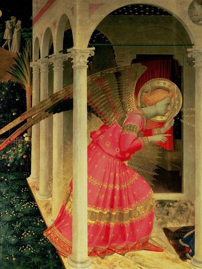 Detail from the Annunciation Showing the Angel Gabriel-Fra Angelico-Giclee Print